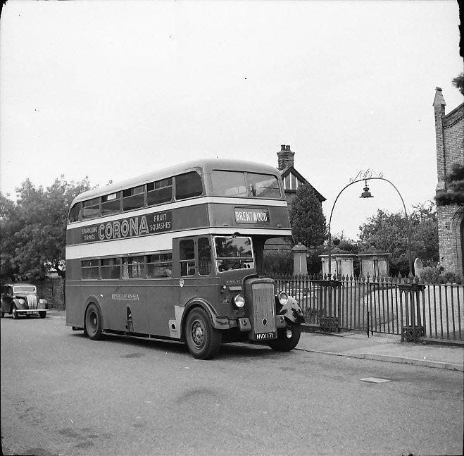 Westcliff-on-Sea ex City Brentwood Daimler CVD6 Roberts NVX171 bus negative
