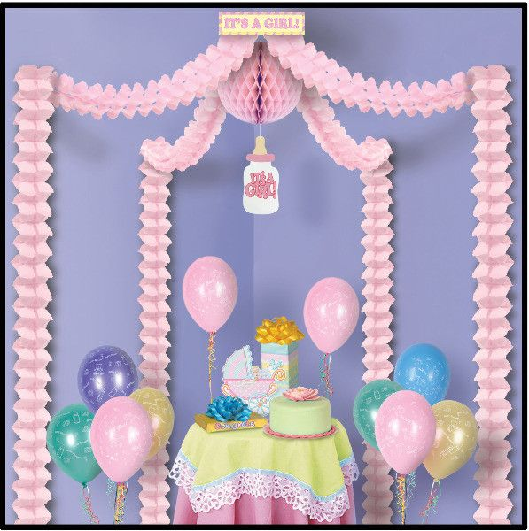 Baby Shower It's A Girl Party Canopy - 6 Pack Case Pack 6