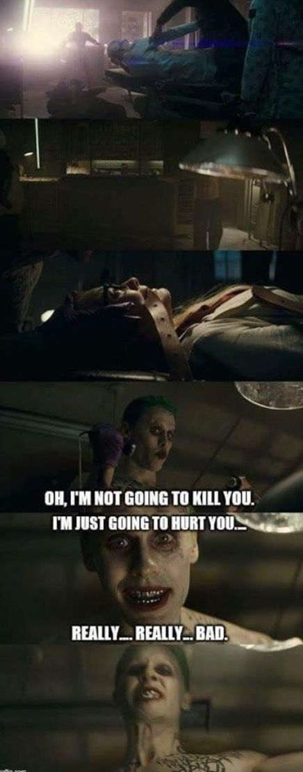 One of the main questions raised by the Suicide Squad trailer is: who was the Joker torturing? It certainly looks like it was Harley. And those were almost definitely electro-shock paddles that attach to your temples that the Joker was holding.