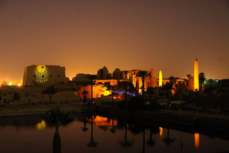 Karnak Temple Sound and Light Show .... The Karnak Temple Sound and Light Show highlights the dramatic history of ancient Thebes. The show narrates the achievements of some great Pharaohs, with poetic descriptions of the ancient treasures.