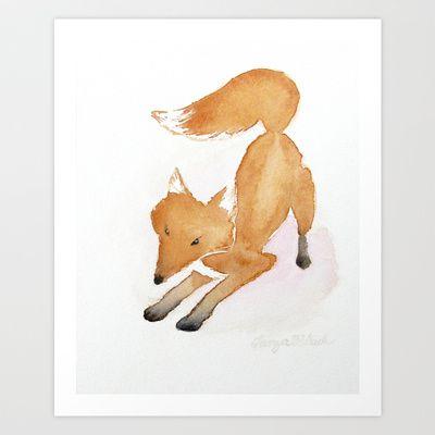 Fox Art Print by Tanya Petruk - $17.68