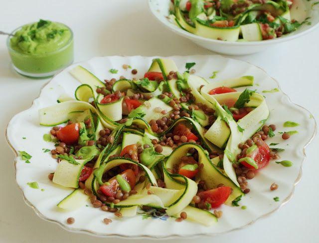 ribbon salad zucchini salad recipe two peas their pod zucchini ribbon ...