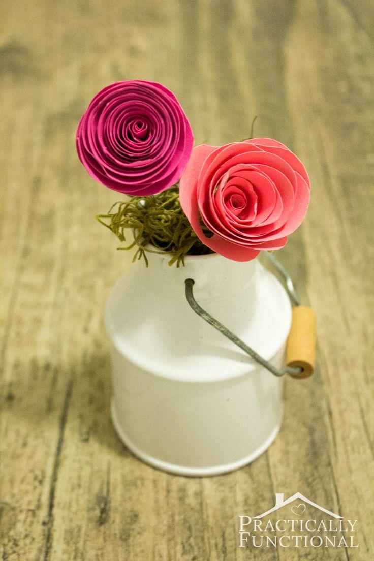 292 best rock paper scissors images on pinterest diy paper practically functional simple spiral paper flowers dhlflorist Images