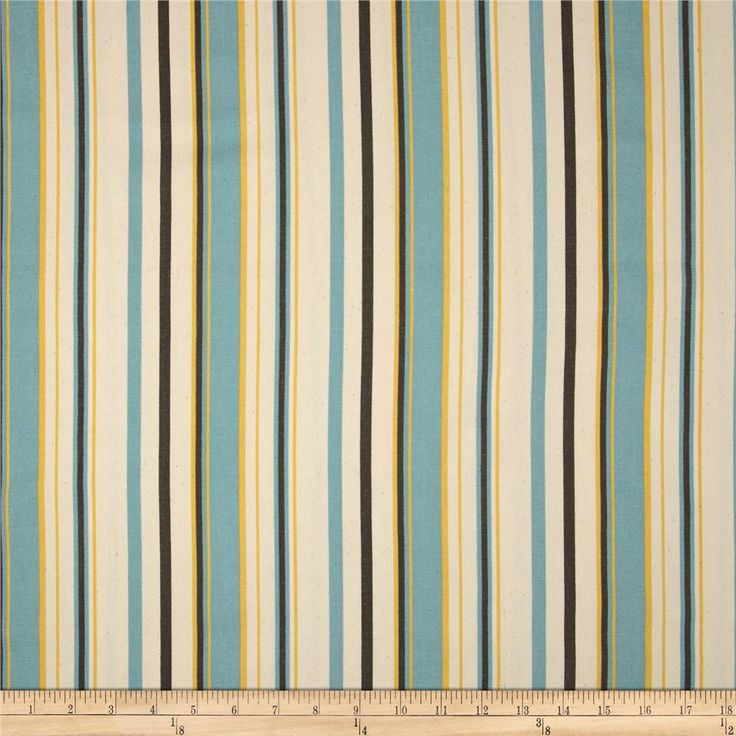 Premier Prints Premier Stripe Cambridge/Natural from @fabricdotcom  Screen printed on natural cotton duck; this versatile medium weight fabric is perfect for window accents (draperies, valances, curtains and swags), accent pillows, duvet covers and upholstery. Create handbags, tote bags, aprons and more. *Use cold water and mild detergent (Woolite). Drying is NOT recommended - Air Dry Only - Do not Dry Clean. Colors include yellow, blue, brown and natural.