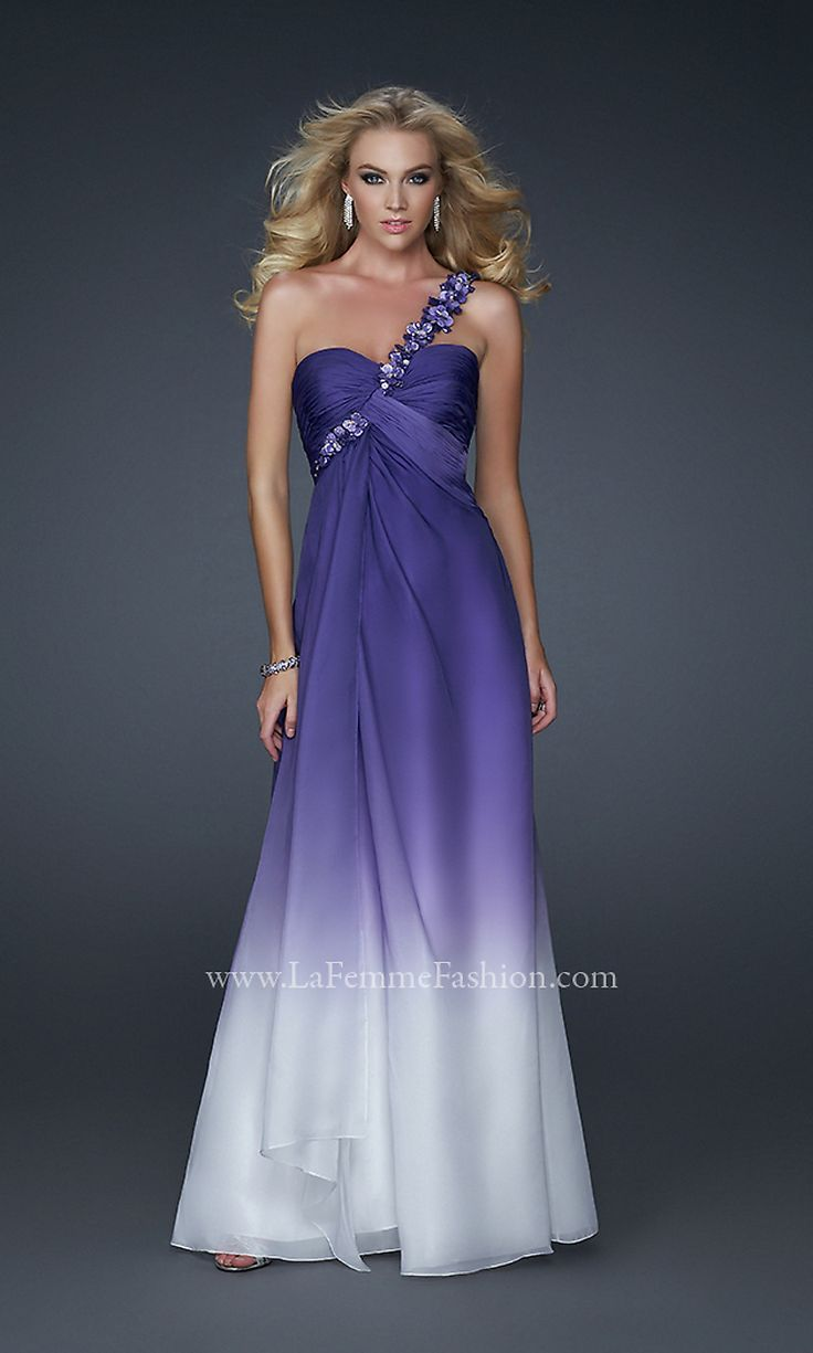 1000 images about wedding dreams on pinterest chiffon for Purple ombre wedding dress