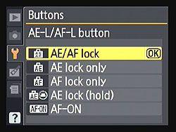 Types of AutoExposure and AutoFocus Lock Modes