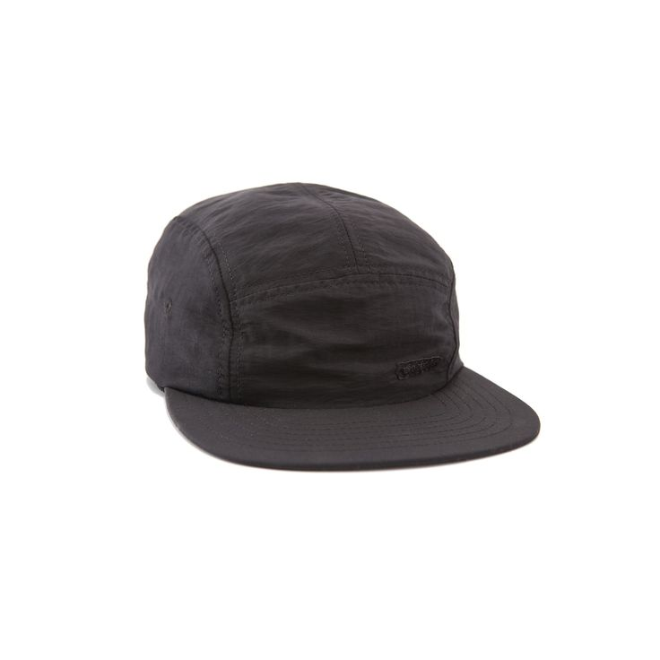 Topo Designs Black 5 Panel Nylon Camp Hat