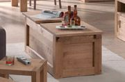 Table basse MOVING  Pin massif ciré et vieux pin recyclé  table basse multi fonctions Coffre, bar, banc L 110 x H 45 x P 50 cm  150 euros