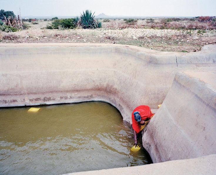 Sivatagi vízlelő hely, Somalia, 2013.