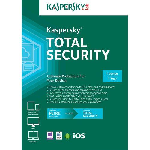 Brand: Kaspersky Manufacturer Part #: KTSR1700012INZZ Our Part #: AVS-KTSR1700012INZZ Availability: In Stock Media Type: Download Platform: Windows XP, Windows Vista, Windows 7, Windows 8, Windows 10, Mac OS X 10.7, Mac OS X 10.8, Mac OS X 10.9, Mac OS X 10.10 , Android 2.3+, iOS #Kaspersky #TotalSecurity #Antivirus #Bluejadeservices #Bluejade