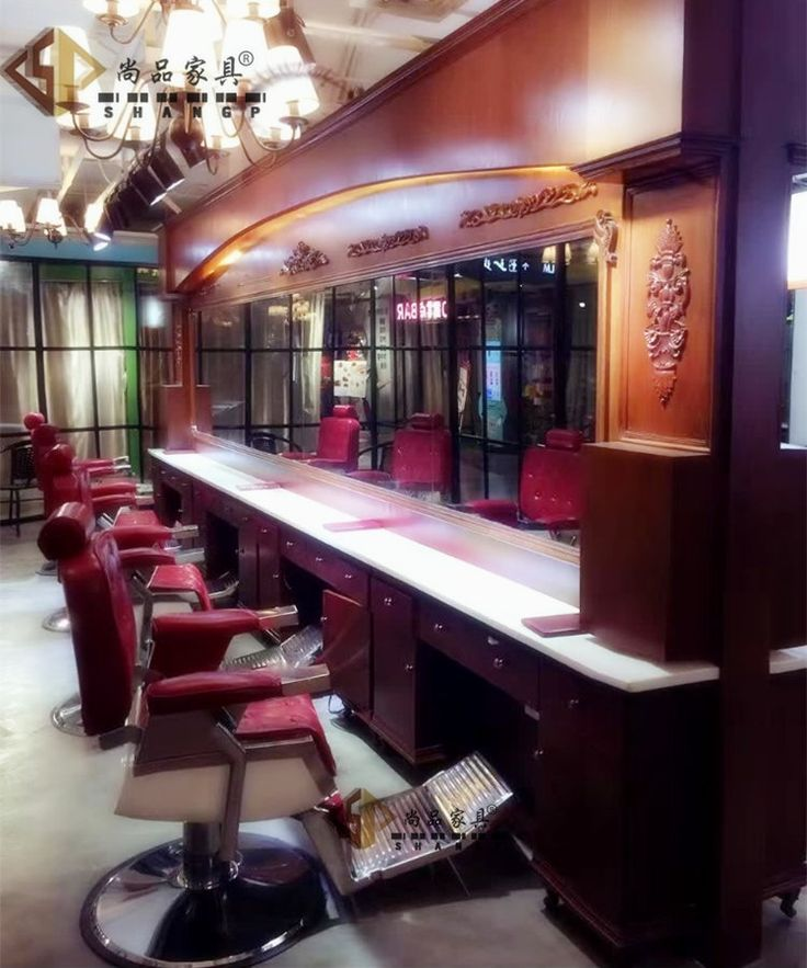 High-end vintage haircut chair. Hair big chairs can be put down hairdressing chair beauty-care big chair