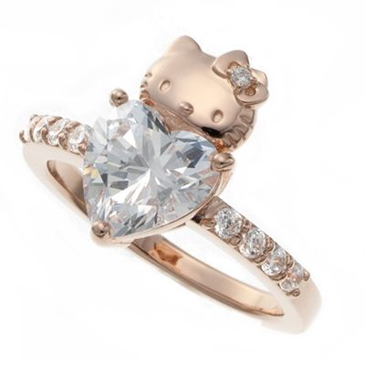 hellokitty Hart Swarovski Ring!!