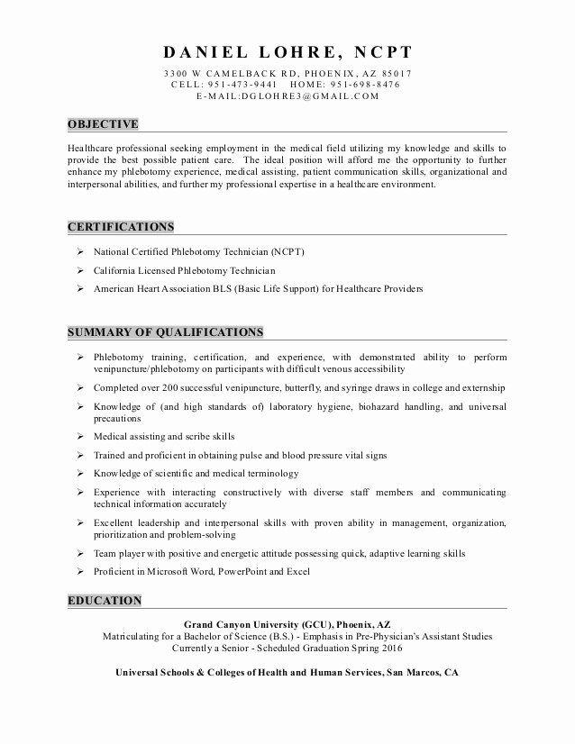 Medical Scribe Job Description Resume Fresh Resume For Medical Scribe Psychology Homework H In 2020 Medical Assistant Resume Resume Objective Resume Objective Examples
