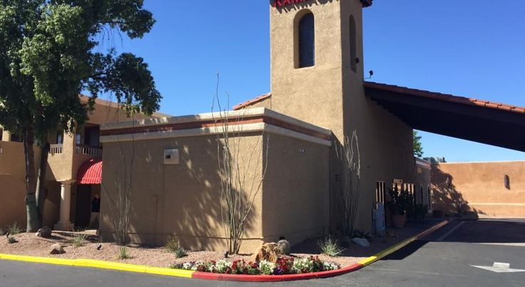 Ramada Tucson East Tucson Located just half a mile from Trail Dust Town, this hotel is 6 miles from the University of Arizona. It features a heated outdoor pool and free Wi-Fi.  A microwave, fridge and coffee maker are standard in every spacious room at Ramada Tucson East.