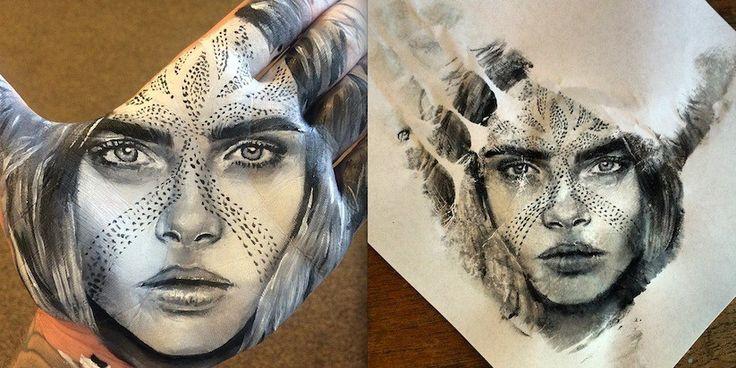 As pinturas feitas com a palma da mão pelo artista Russell Powell – Update or Die!