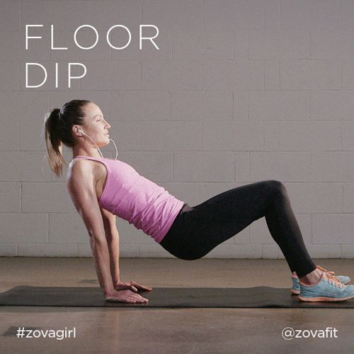 Floor dips  If you are more advanced count down slowly backwards from 3, only reaching the ...