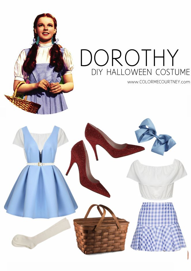 easy diy halloween costumes dorthy from wizard of oz diy halloween - How To Make Homemade Costumes For Halloween