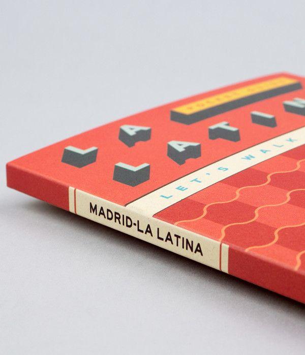 La Latina Madrid Map Guide by relajaelcoco, via Behance | Publication Design