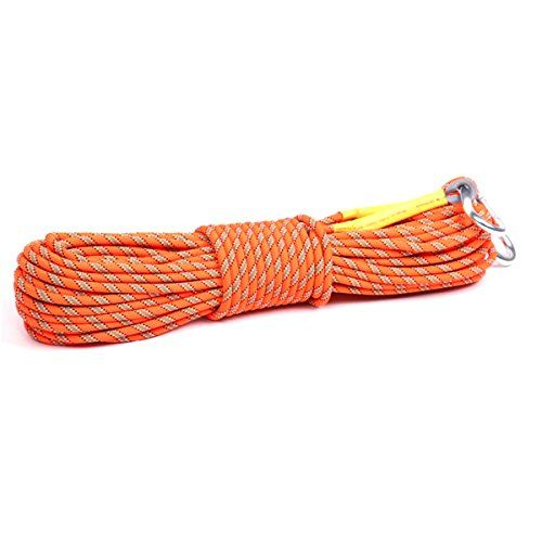 Outdoor Climbing Rope 10M32ft 20M64ft 30M 98ft Rock Climbing Rope Escape Rope Climbing Equipment Fire Rescue Parachute Rope 32 foot * For more information, visit image link. Note:It is Affiliate Link to Amazon.