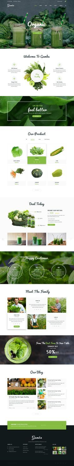 Gamba is a powerful, modern and creative PSD template designed for food