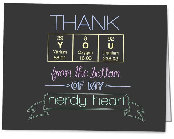 Thank you cards. | chemistry | Pinterest | You from