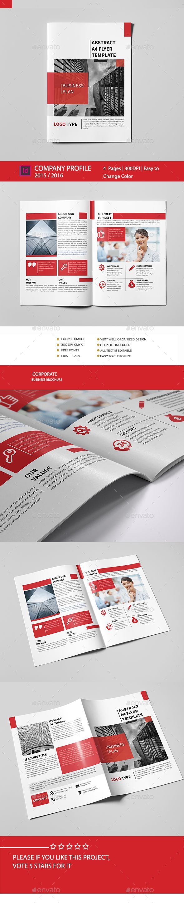 Bi-Fold Brochure  #professional #psd brochure #simple • Available here → http://graphicriver.net/item/bifold-brochure/15805661?ref=pxcr