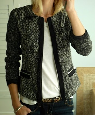 A tweed blazer/jacket with edgy lines would be perfect for me!