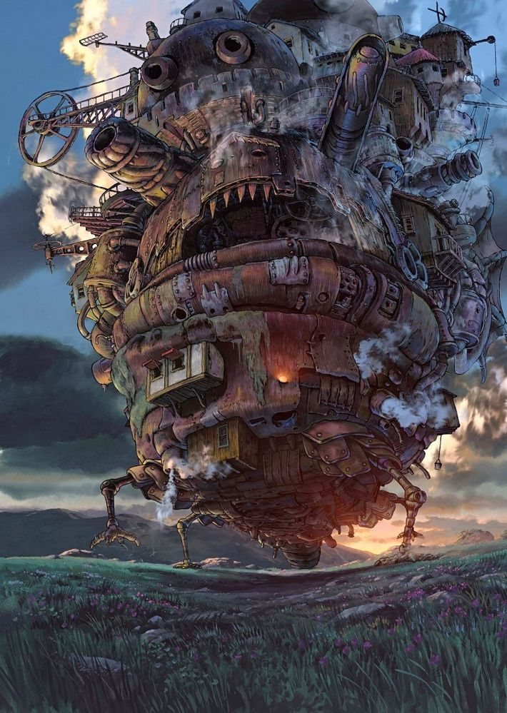 A1 HOWLS MOVING CASTLE STUDIO GHIBLI LARGE WALL ART PICTURE PRINT PREMIUM POSTER
