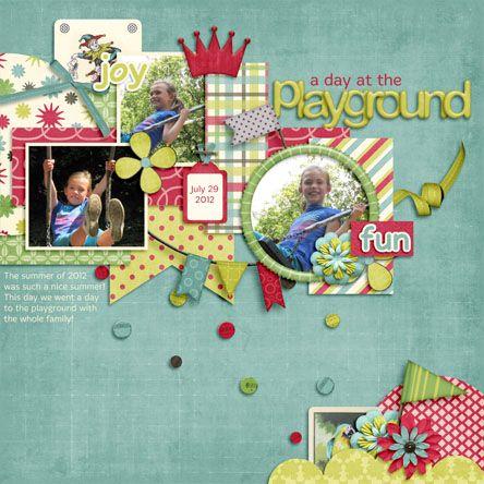 playground digital scrapbooking layout