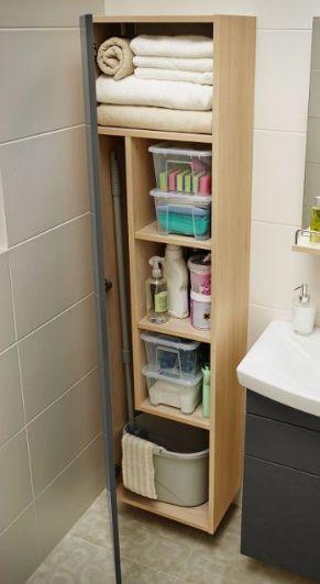 sprytne schowki w łazience