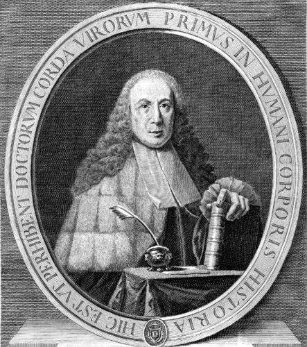 Retrato de Giovanni Morgagni, por I. Renard, siglo XVIII