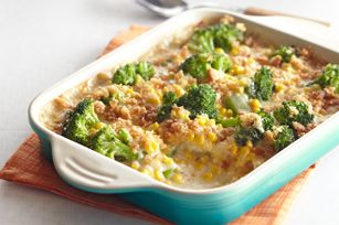 I made this last night and it is very good.  I used fresh broccoli instead of frozen though.