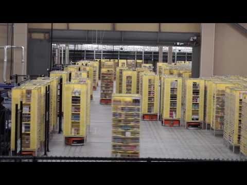 【ITmediaニュース】「アマゾン川崎FC」で稼働する「Amazon Robotics」 - YouTube