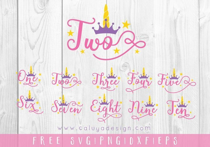 Unicorn Numbers Free Svg Png Dxf Eps By Caluya Design Unicorn Svg Free Svg Svg