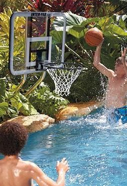 Challenge your friends to fun basketball games while beating the heat in the pool with th On Deck Basketball Set.: Basketb Sets, Pools Games, Backyard Fun, Outdoor Fun, Beaches Games, Outdoor Decor, Poolsid Dreams, Decks Basketb, Pools Parties
