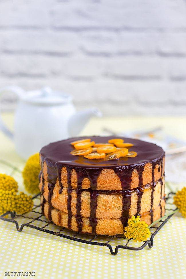 A cake inspired by the popular UK biscuit... Jaffa Cake – Chocolate and Orange Layer Cake | Supergolden Bakes
