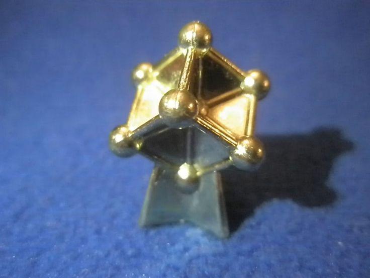 EUROPEAN EUROPE MONOPOLY GOLD TONE TOKEN ATOMIUM 1958 WORLD'S FAIR EXPO BRUSSELS