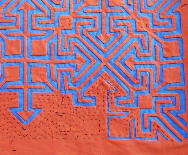 primitive art, textile art, mola, two color mola, mola tutorial, mola lessons, mola art, molas, kuna indians, kunas, panama culture,