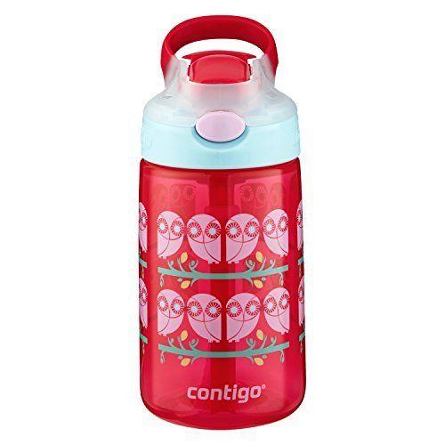Contigo AUTOSPOUT Gizmo Flip Kids Water Bottle, 14 oz., Ruby (2-Pack)