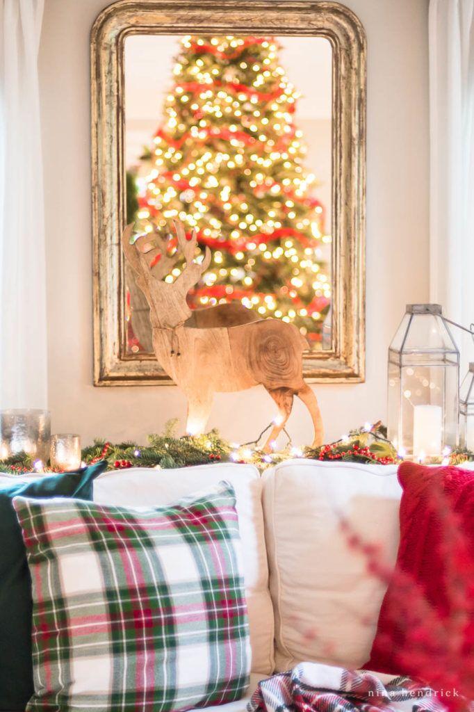 Classic Christmas Family Room Nostalgic Inspired Christmas Tree Classic Christmas Decorations Cottage Christmas Christmas Home Lillie and lola christmas rooms