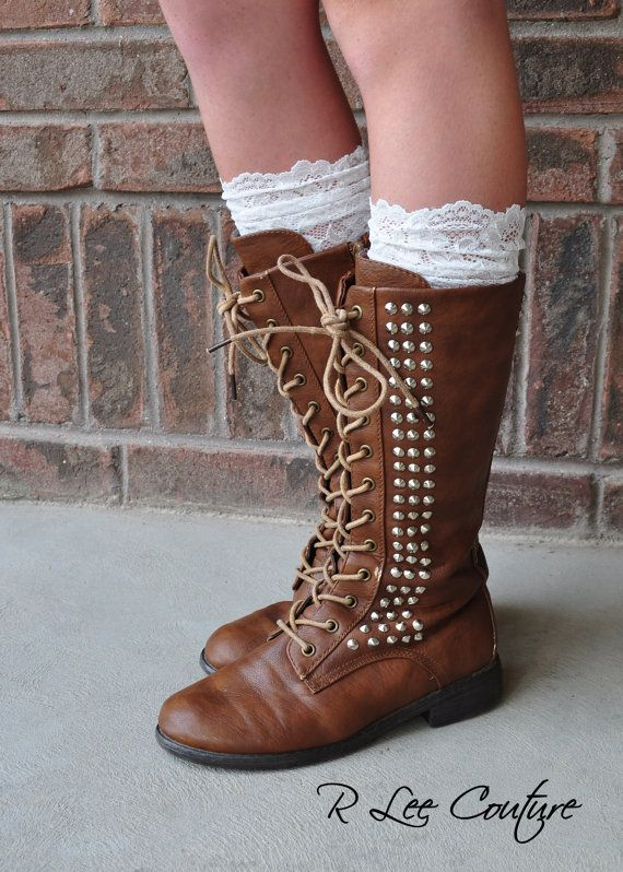 Hey, I found this really awesome Etsy listing at https://www.etsy.com/listing/160366638/lace-boot-cuffs-faux-lace-boot-socks
