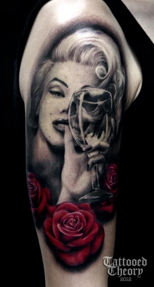 Marilyn Monroe, two face. | Inked | Tattoos | Tattoos, Marilyn ...