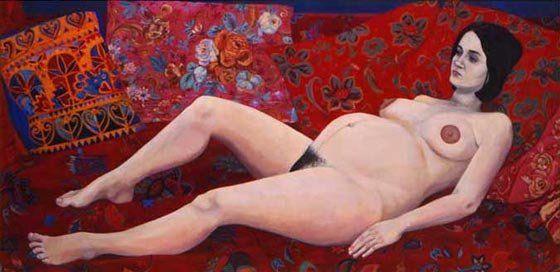 """Christiane Kubrick, """"Paula on red"""".   Avant d'être """"la femme de Stanley"""", Christiane Kubrick était peintre et l'est toujours. Chacun de ses tableaux est une ode à la vie gorgée de couleurs. On peut les voir sur son site et sur les murs du couple Kidman/Cruise dans """"Eyes Wide Shut"""" où ils ouvrent la porte à des univers parallèles.   + dans l'album-photos """"Artistes et femmes: le défi SOCIAL MEDIA FEMALE ARTISTS CHALLENGE"""" http://on.fb.me/1HSjVUG"""