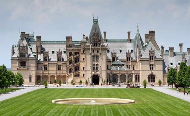 Set against North Carolina's Blue Ridge Mountains, George Vanderbilt's 250-room chateau-style Biltmore Estate ranks as the largest private home in America. (From: Photos: America's Most Beautiful Home and Garden Tours)
