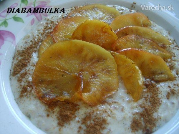 Vanilková ovsená kaša s medovými jabĺčkami - Recept