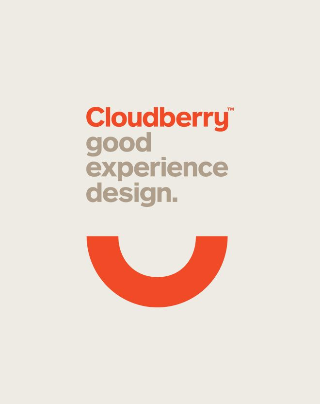 I like simplicity on this design and the orange curve line looks like a smile for the satisfaction of good experience.