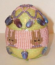 Herringbone Bunny Egg Cover by Jeanette Shanigan