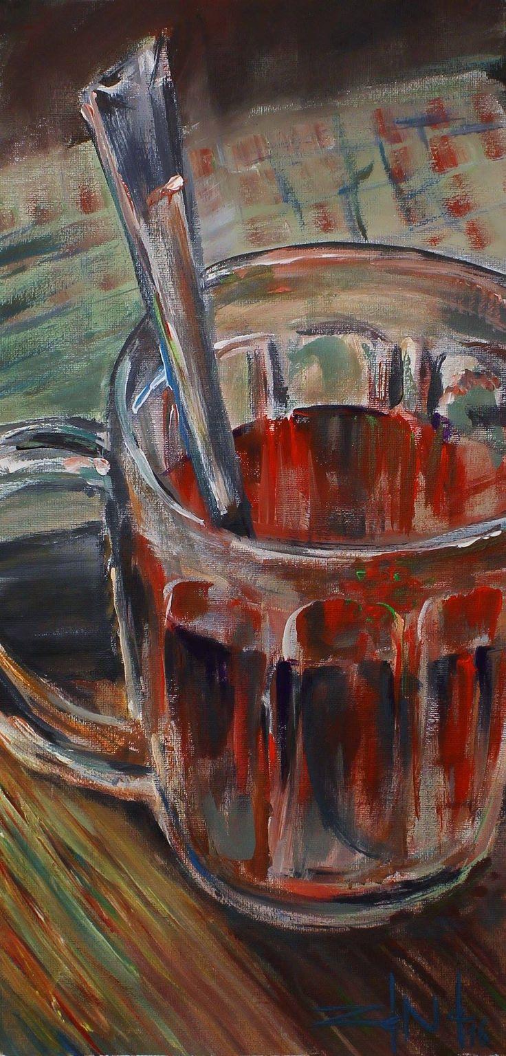 #glass #paint #painter #painting #table #gastronomie #brush #picture #canvas