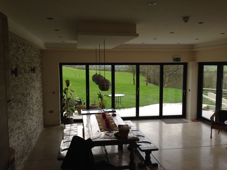 Country Home Bi-Folding doors in North Wales installed by CS Bi-Folding doors.