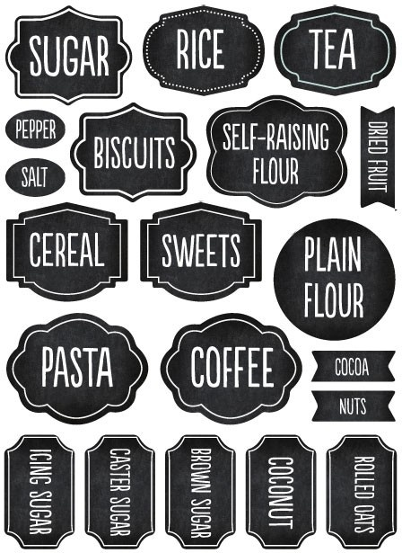 Pantry Labels ~ tinyme.com.au
